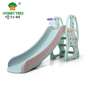 Wholesale high quality plastic kids slide and swing on sale