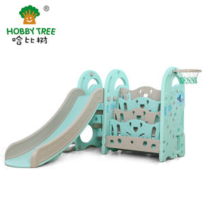 Wholesale high quality kids bookshelf and slide set on sale