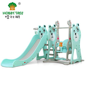 Three Bear Theme Hot Selling Kids Slide And Swing For Family Use