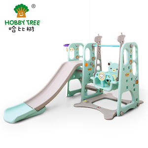 Wholesale high quality plastic kids indoor slide and swing on sale