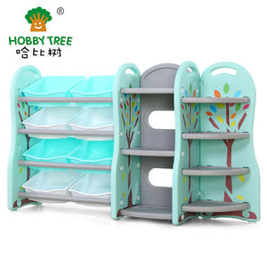 Indoor Plastic Small Kids Bookshelf And Toy Cabinet For Wholesale