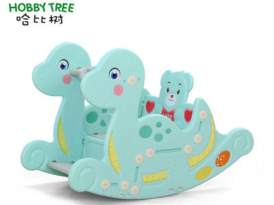 New product dinosaur theme kids plastic rocking rider toy