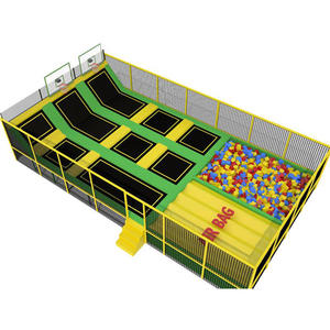 Customized good quality trampoline park for teenager equipment factory