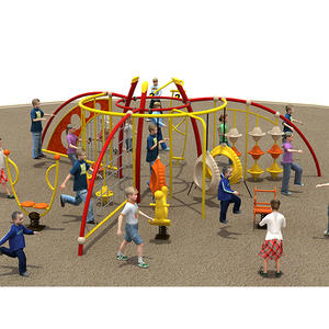 Customized good quality kids play ground equipment factory