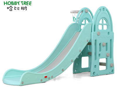 Castle theme cheap plastic indoor slide for family use