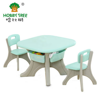 Children learning table and chairs for daycare center