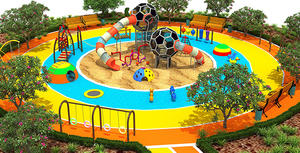 Outdoot Fitness Playground Equipment For Amusement Park