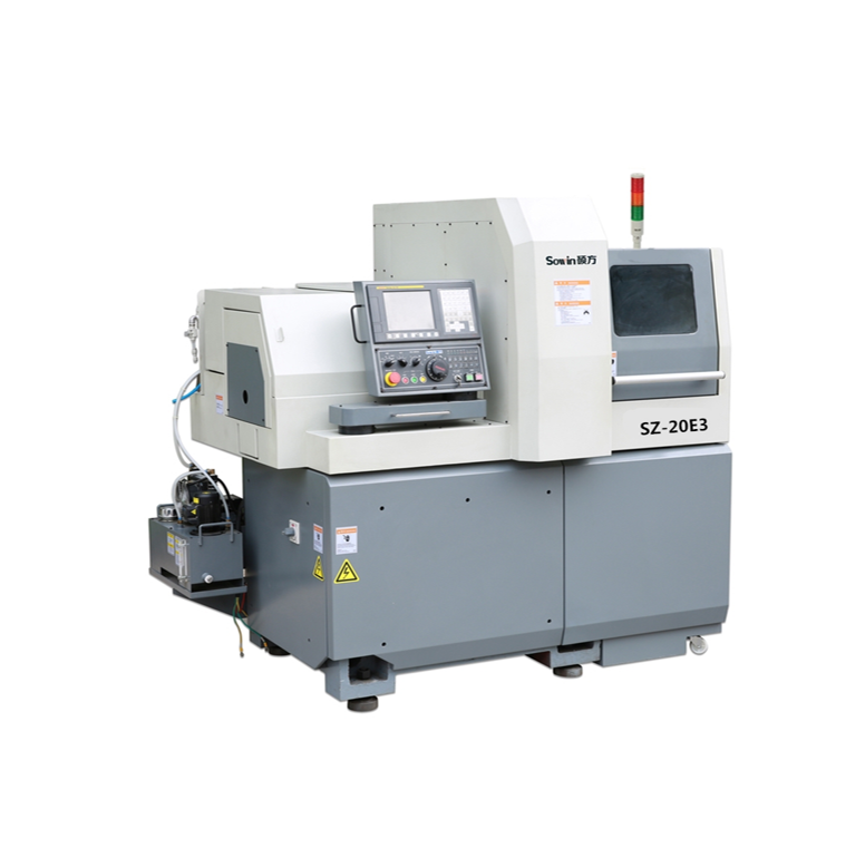 Model SZ-20E3 3 axis Swiss type sliding head CNC automatic lathe machine