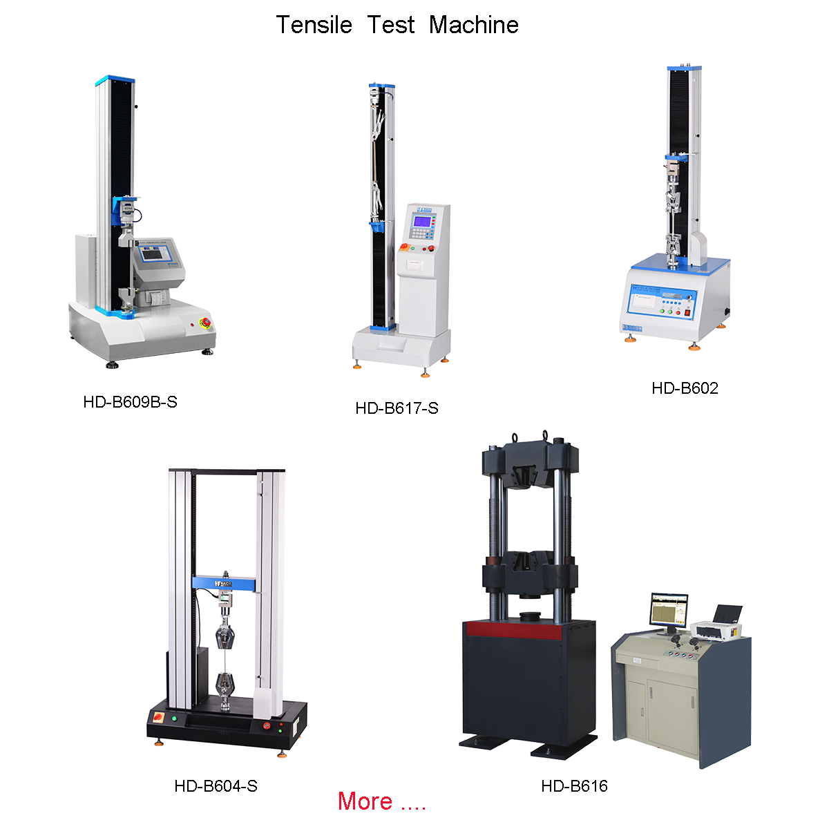 The extensiveness of the tensile testing machine for metallic or nonmetallic testing