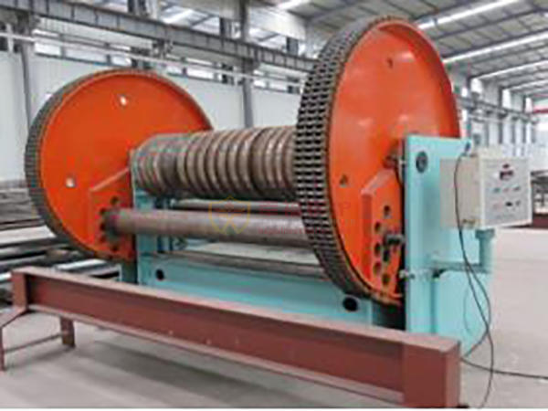 Membrane type wall row bending machine