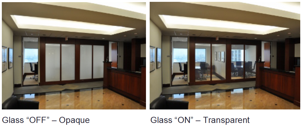 Technology-switchable privacy glass