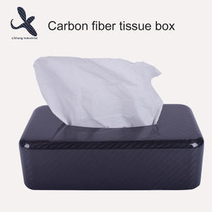 Custom OEM carbon fiber tissue box factory