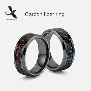 Custom High quality Carbon fiber engagement ring