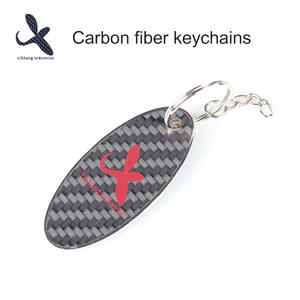 OEM Carbon fiber oval key ring manufacturer