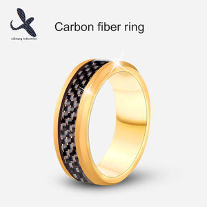 High quality OEM carbon fiber ring manufacturer  carbon fiber finger ring