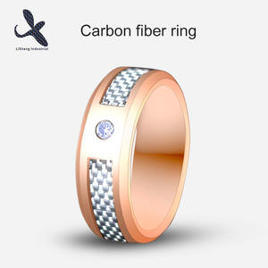 Carbon Fiber Diamond Ring