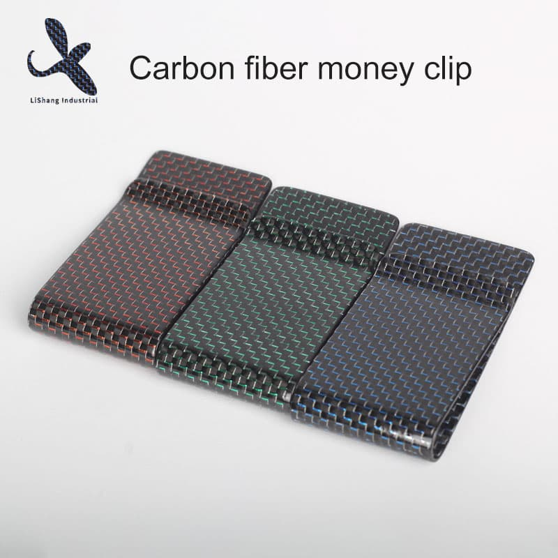 Carbon fiber money clip combining technology and art