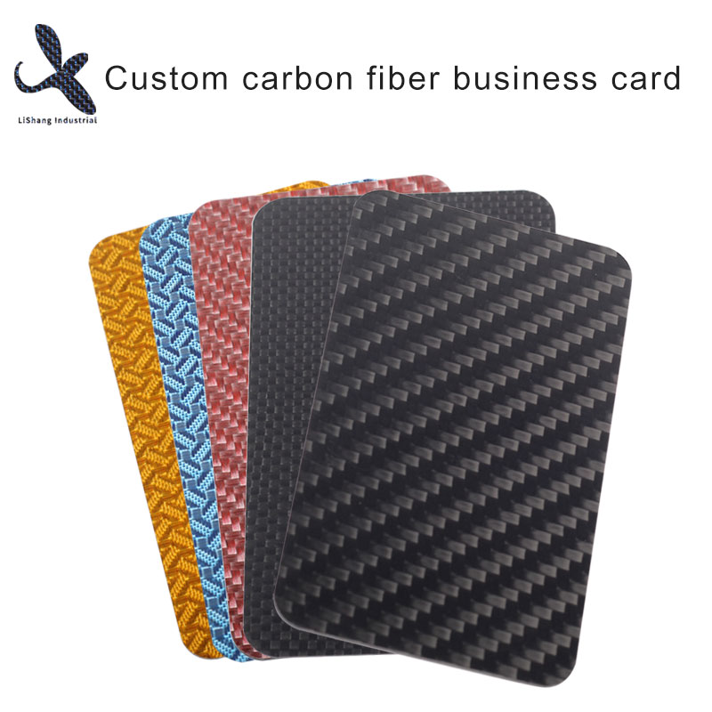 The noblest business card -- carbon fiber business card