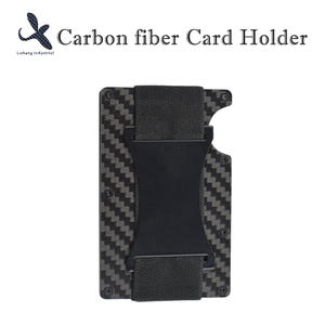 High quality Custom OEM carbon fiber card holder