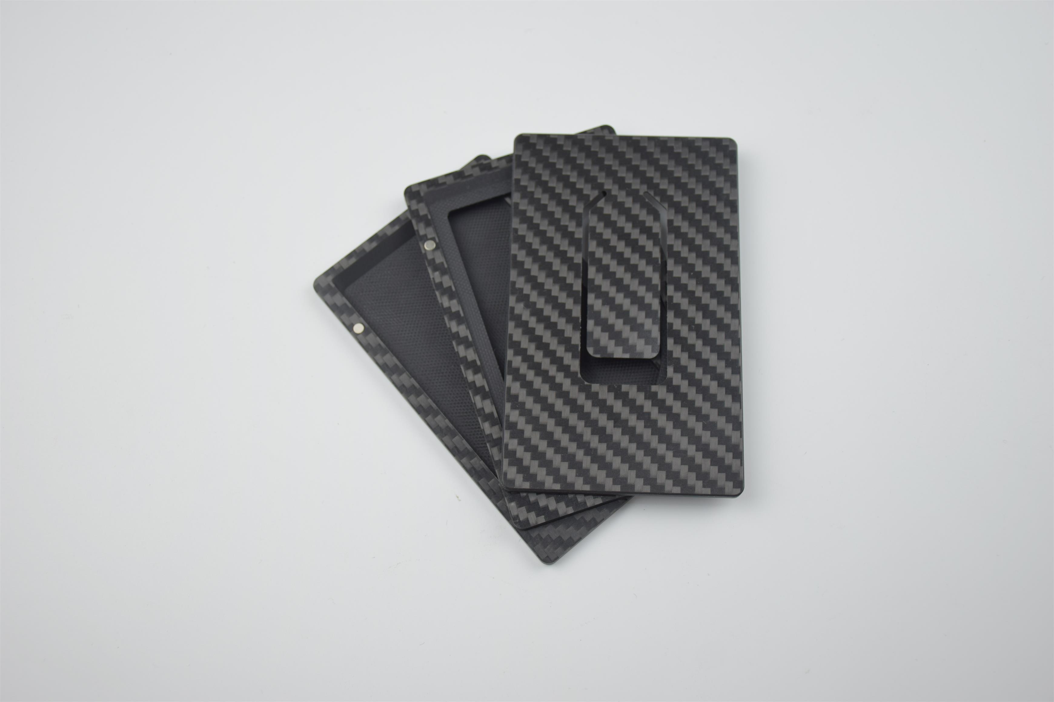 Portable modular carbon fiber card clip