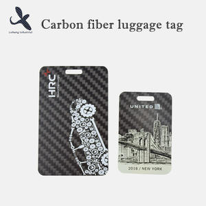 Carbon fiber luggage tag High quality Custom  manufacturer price factory design