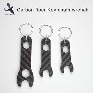 High quality Custom Custom Carbon fiber Key chain wrench  manufacturer