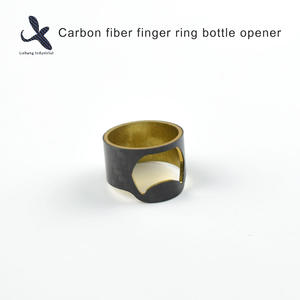 High quality Custom OEM Carbon fiber finger ring bottle opener  manufacturer