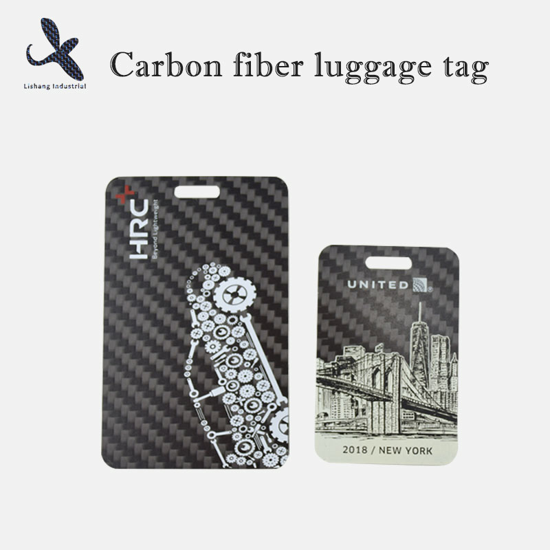 Carbon fiber luggage tags can help you find your luggage quickly