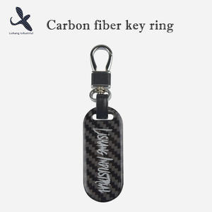 High quality Custom OEM carbon fiber key ring manufacturer