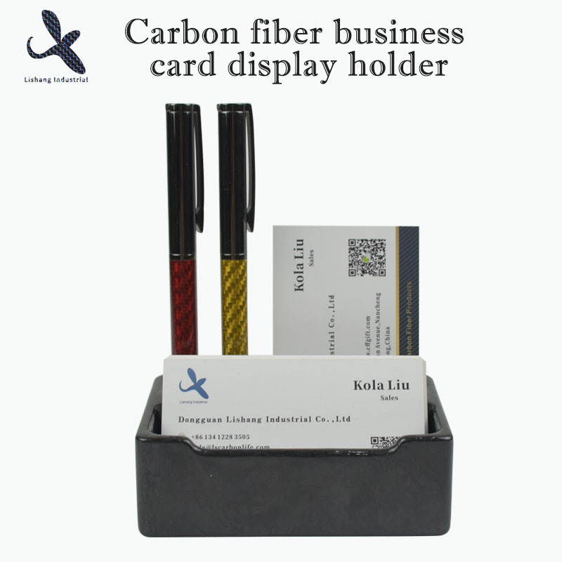 Carbon fiber business card di