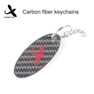High quality Custom OEM carbon fiber keychain manufacturer