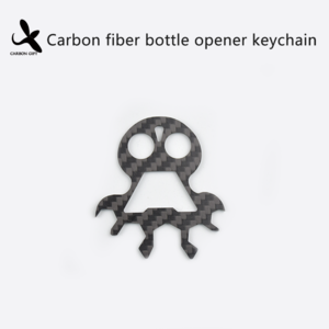 Carbon Fiber Bottle Opener Keychain