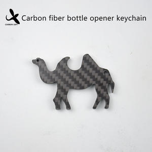High quality Custom OEM Carbon fiber bottle opener keychain  manufacturer