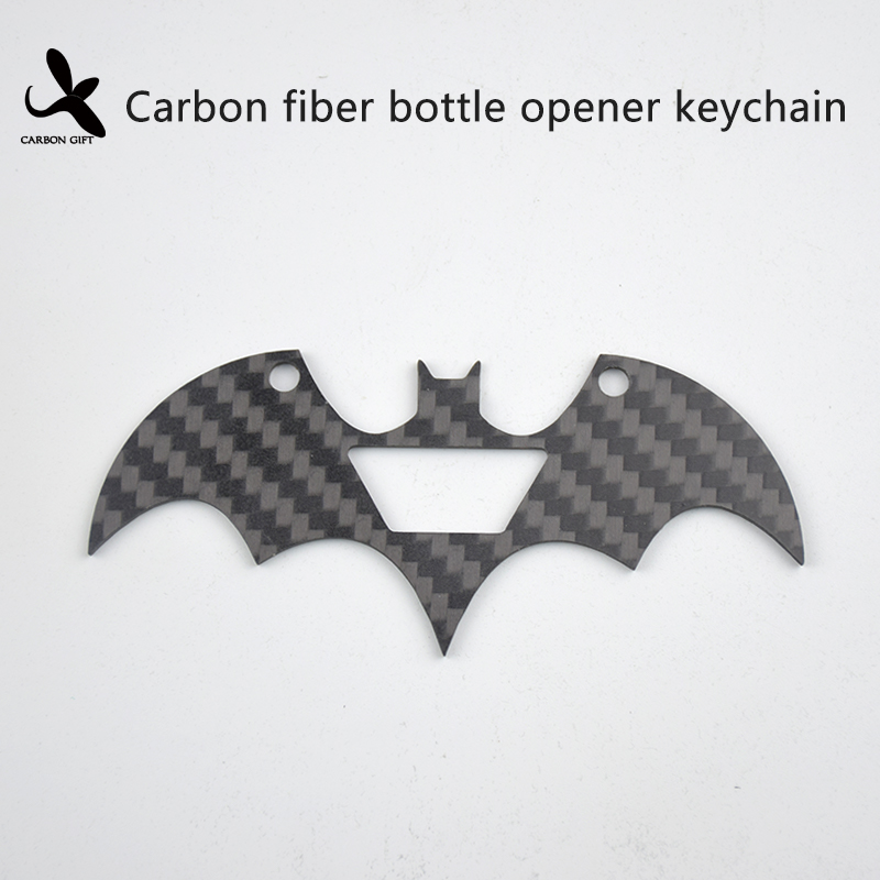 Carbon fiber bottle opener key