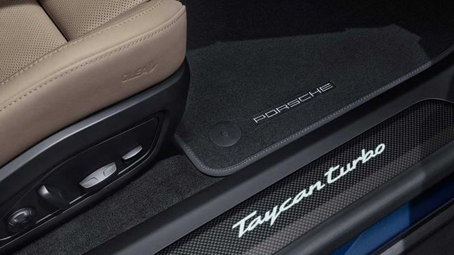 The Taycan Turbo special edition is made of carbon fiber