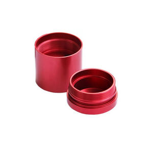 CNC machinery parts with red anodizing