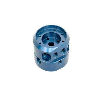 CNC Machining Aluminum Parts with Blue Anodizing