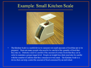 Small Kitchen Scale