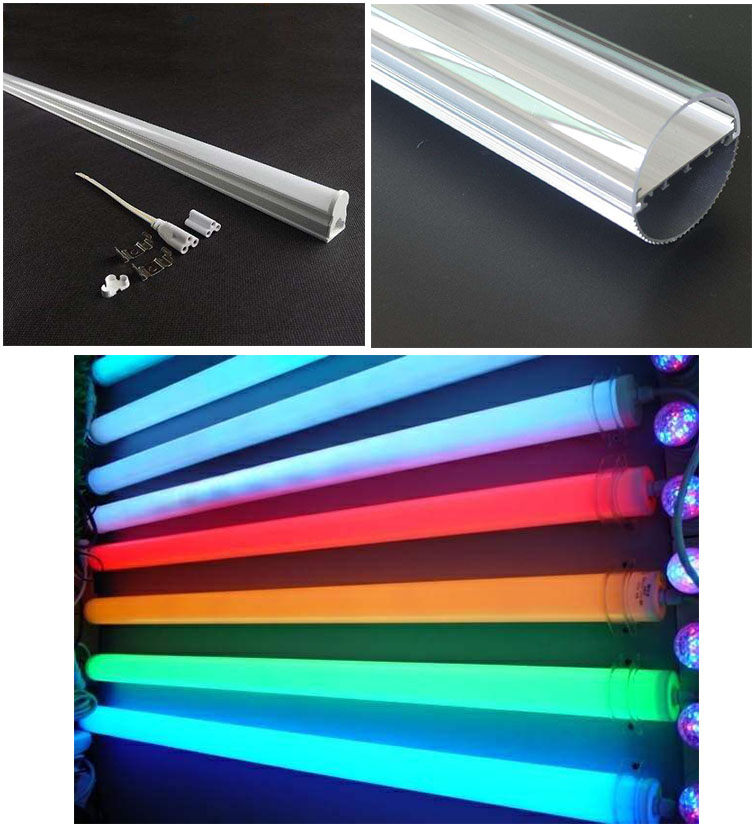 Single double colors PC LED tube light extrusion machine 4