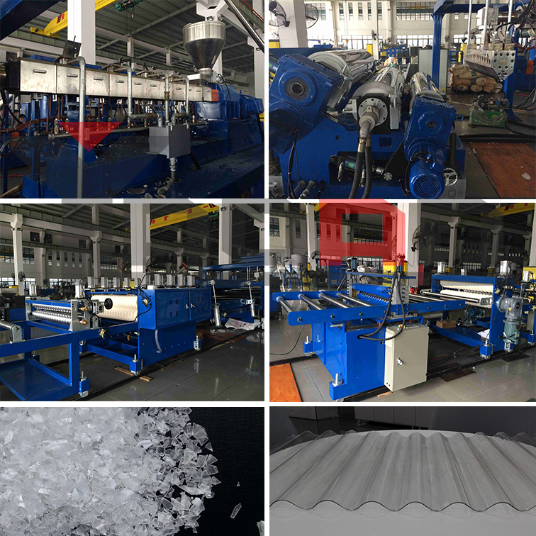PP PC PET PVC corrugated roofing sheet machine 1