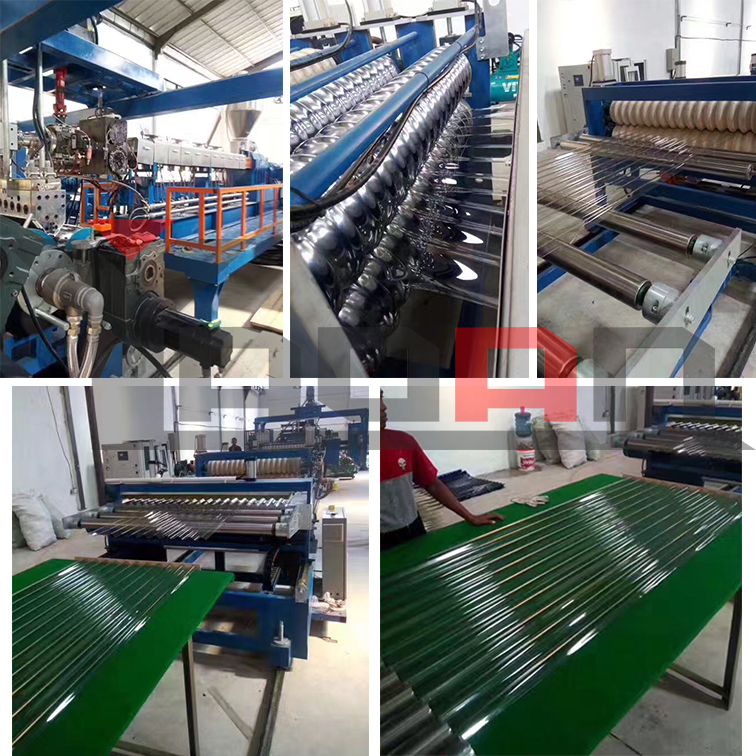 PP PC PET PVC corrugated roofing sheet machine 3