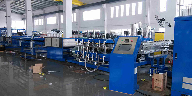 PP hollow flute sheet extrusion machine 1