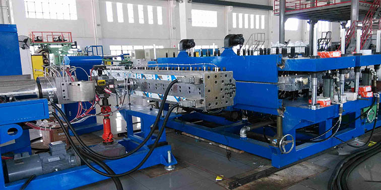 PP hollow flute sheet extrusion machine 2