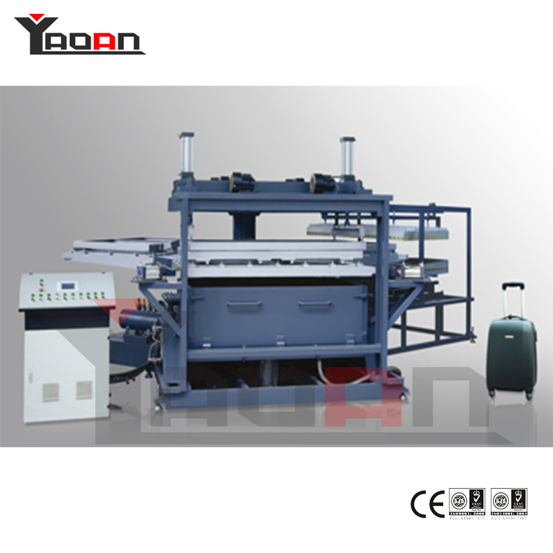 Luggage baggage case PC ABS sheet thermoforming machine vacuum forming machine 4