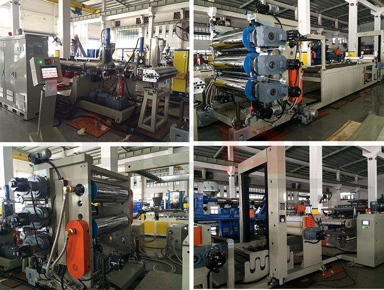 PP PE PS PET PC ABS Plastic Sheet Extrusion Machine 2