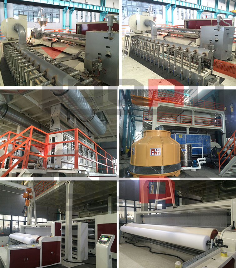 S SS SMS PP Spunbond Nonwoven Fabric Making Machine 4