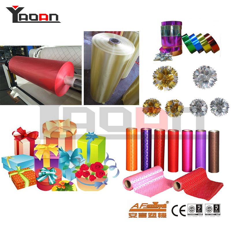 PP colorful ribbon film sheet extrusion machine 3