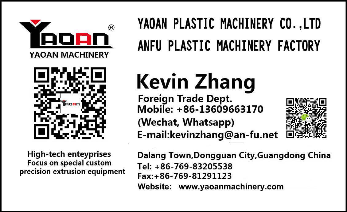 yaoan machinery yaoan plastic machinery co ltd
