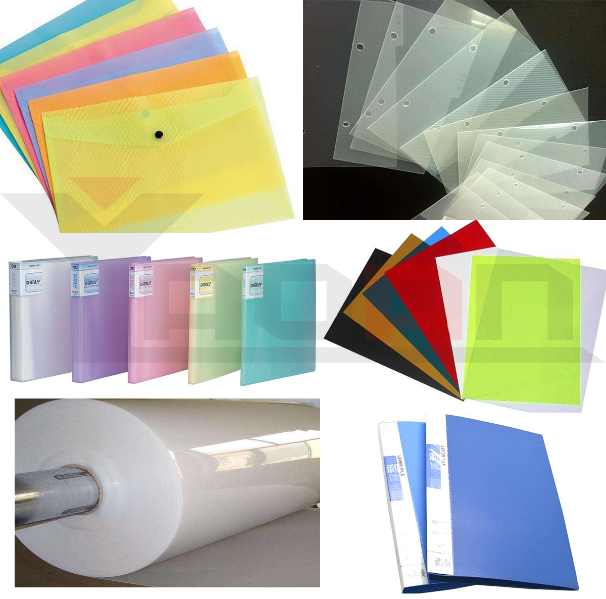 Stationery file folder cover film sheet extruder PP sheet machine