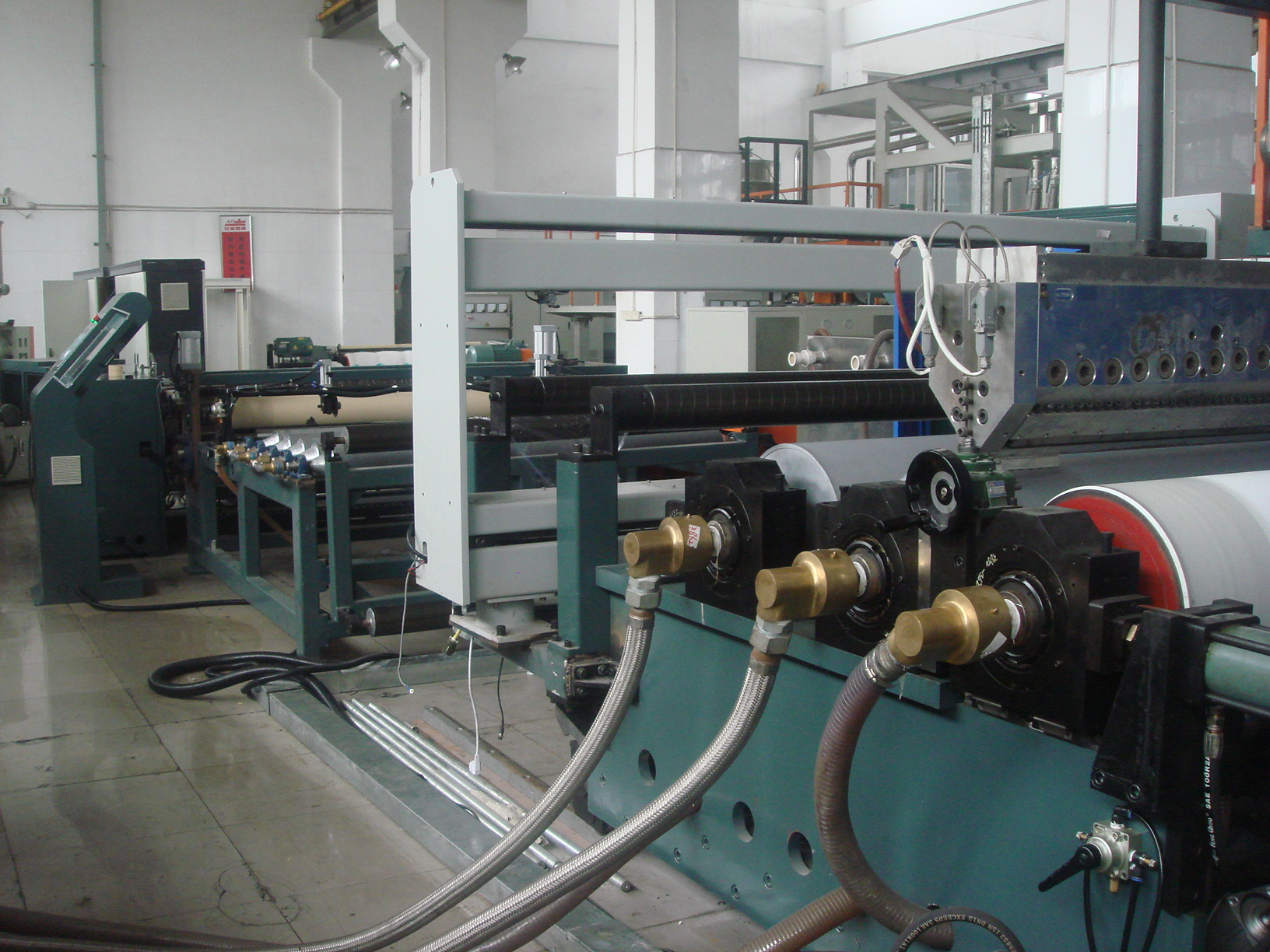China TPU film extrusion machine for artificial leather clothes